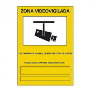 Cartel de video vigilancia